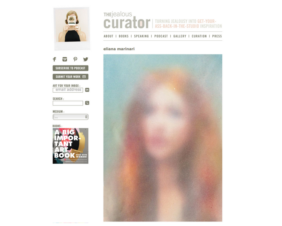 The jealouscurator online feature